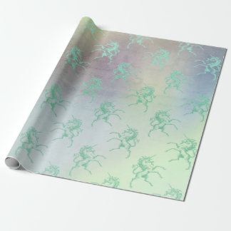 Aqua aquamariner tadelloser PastellOmbre Geschenkpapier