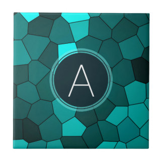 Aqua-aquamarines beflecktes Glas-Mosaik Fliese