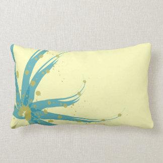 Aqua-aquamarines gelbes Chartreuse modernes Lendenkissen