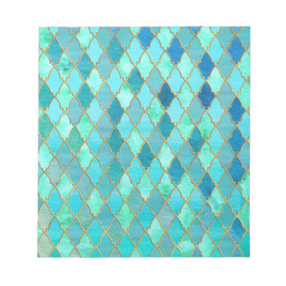 Aqua-aquamarines tadelloses Goldorientalisches Notizblock