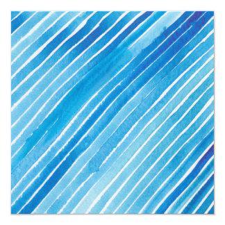 Aqua-Aquarell-Streifen Personalisierte Ankündigung