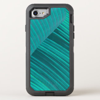Aqua-Bananen-Blatt OtterBox Defender iPhone 8/7 Hülle
