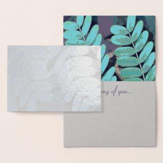 Aqua-Blätter Folienkarte