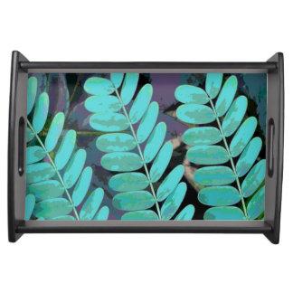 Aqua-Blätter Serviertablett