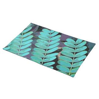 Aqua-Blätter Tischset