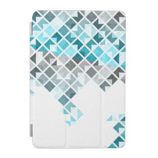 Aqua-Blau-, Graues u. weißesgeometrisches Muster iPad Mini Hülle