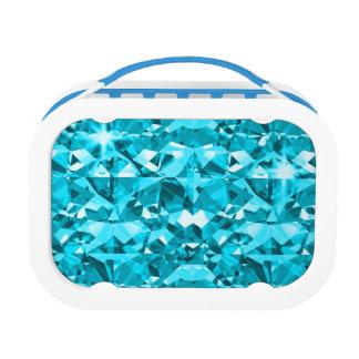 Aqua-Blau ist fantastische funkelnde Diamanten Brotdose