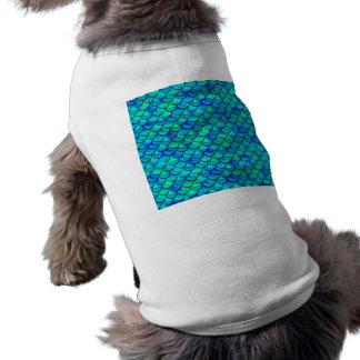 Aqua-Blau-Skalen Shirt