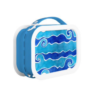 Aqua-Blau-Wellen Brotdose