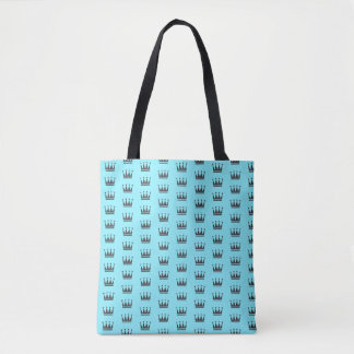 Aqua-blaue Kronen-Muster-Tasche Tasche