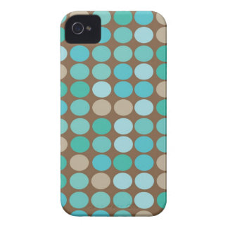 Aqua-blaues aquamarines u. Brown punktiert iPhone 4 Case-Mate Hülle