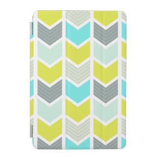 Aqua-blaues gelbes graues geometrisches Zickzack iPad Mini Hülle