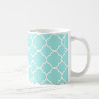 Aqua-blaues marokkanisches Muster Kaffeetasse