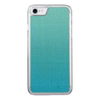 Aqua blaues Ombre Ahorn-Holz Carved iPhone 8/7 Hülle