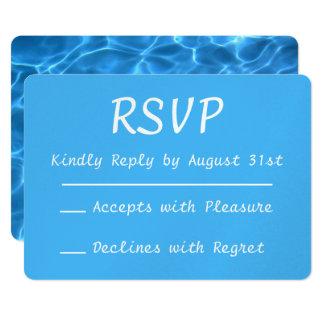 Aqua-blaues Swimmingpool-Foto UAWG 12,7 X 17,8 Cm Einladungskarte