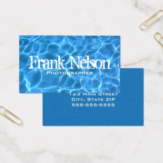 Aqua-blaues Swimmingpool-Wasser-Foto Visitenkarte