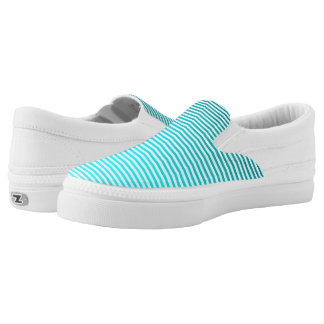 Aqua-Blues Ombre Streifen Slip-On Sneaker
