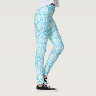 Aqua-Damast-Muster-Mädchen-Gamaschen Leggings