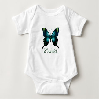 Aqua-eleganter Schmetterling Baby Strampler