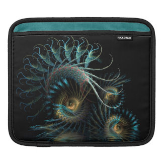 Aqua-Fraktal-Scarabäus-Muschel iPad Tablette-Hülse Sleeve Für iPads