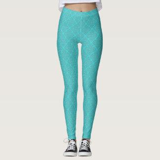 Aqua gemustert leggings