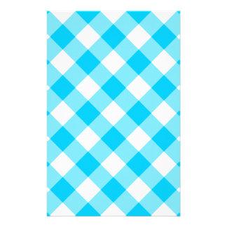 Aqua-Gingham-Muster Briefpapier