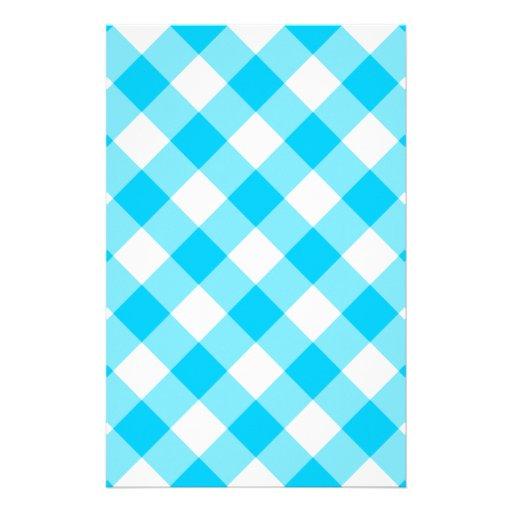 Aqua-Gingham-Muster Personalisiertes Druckpapier