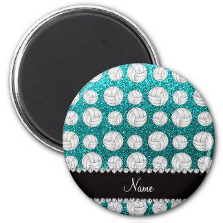 Aqua-Glittervolleyball des individuellen Namens Magnete