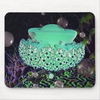 Aqua-grüne Quallen-Mausunterlage durch kunstvolle Mousepad
