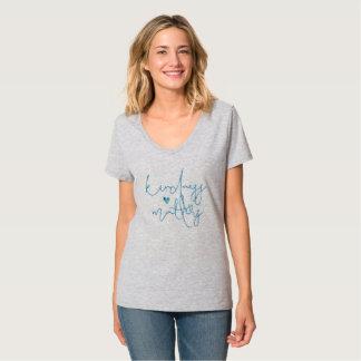 Aqua-Güte-Angelegenheits-Herz T-Shirt