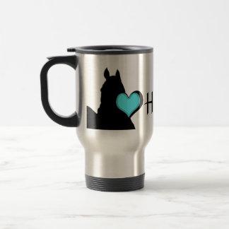 Aqua-Herz der Herz-Pferdi (weißer Hintergrund) Reisebecher