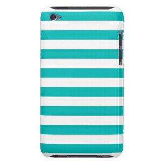 Aqua-horizontale Streifen Barely There iPod Hülle