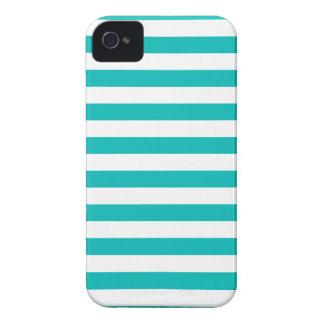 Aqua-horizontale Streifen iPhone 4 Hüllen