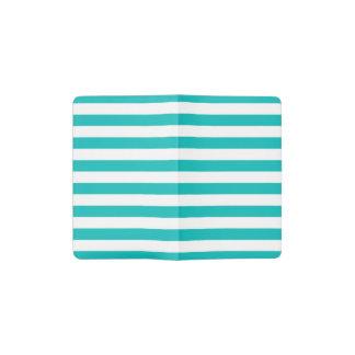 Aqua-horizontale Streifen Moleskine Taschennotizbuch