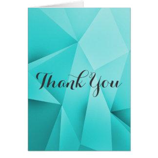 Aqua-Juwel-Töne danken Ihnen zu kardieren Mitteilungskarte