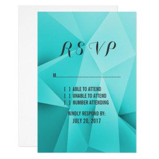 Aqua-Juwel tont Hochzeit UAWG Karte 8,9 X 12,7 Cm Einladungskarte