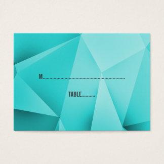 Aqua-Juwel tont Hochzeits-Platzkarten Jumbo-Visitenkarten