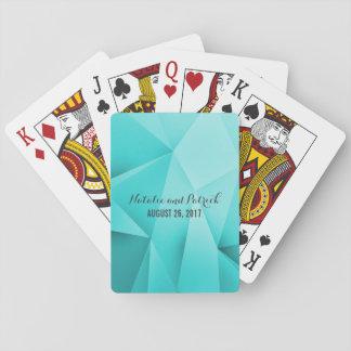 Aqua-Juwel tont Hochzeits-Spielkarten Pokerkarten