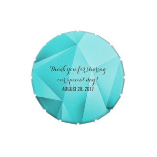 Aqua-Juwel tont Hochzeits-Süßigkeits-Zinn Jelly Belly Dosen