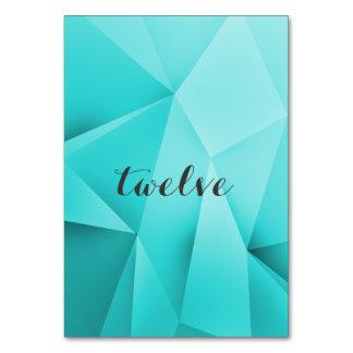 Aqua-Juwel tont Tischnummer-Karte