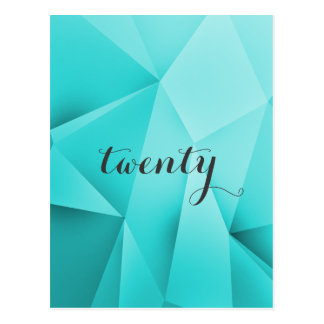 Aqua-Juwel tont Tischnummer-Postkarte Postkarten