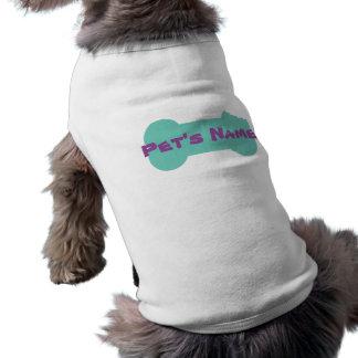 Aqua kaute Knochen-personalisierten Hundeshirt 1 T-Shirt