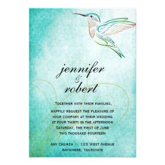 Aqua-Kolibri-Aquarell-Hochzeits-Einladung
