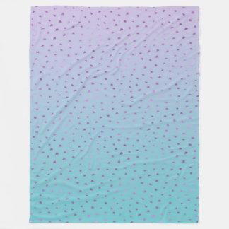 Aqua lila Ombre Confetti-Punkte Fleecedecke