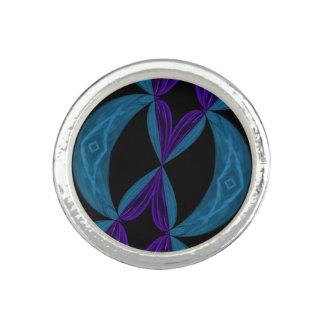 Aqua-lila Schwarzes DNA-Schleifen Foto Ring