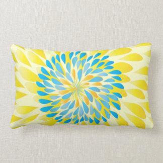 Aqua-Limone und gelbe moderne Blumen-Blumenkissen Lendenkissen