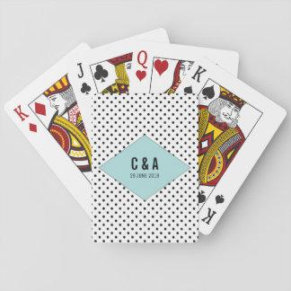 Aqua-moderne Tupfen, die Spielkarten Wedding sind