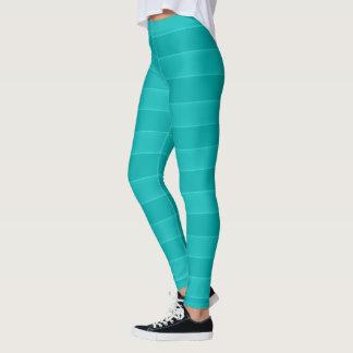 Aqua-mutiges gestreiftes leggings