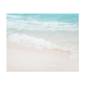 Aqua-Ozean-Wellen in Kauai Leinwanddruck