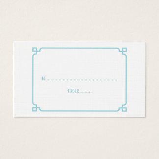 Aqua-Paradies-Dekochic-Hochzeits-Platzkarten Visitenkarte